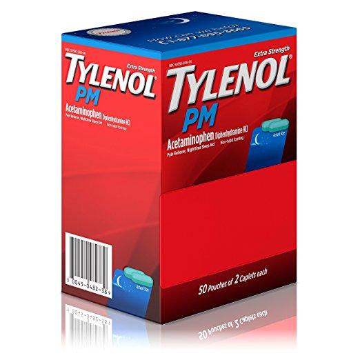 Tylenol PM Extra Strength Caplets, 50x2 Ct