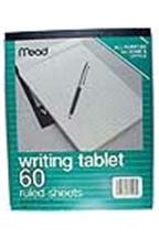 8x10 writing tab ruled 60shts